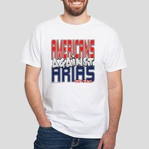 Americans Against Arias [APPA White T-Shirt
